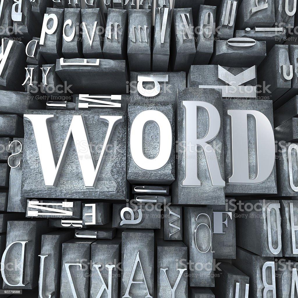 Word block royalty-free stock photo