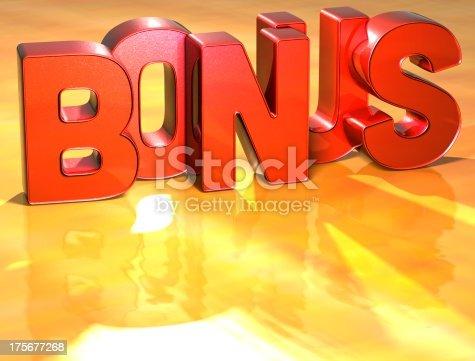 istock Word Bonus on yellow background 175677268
