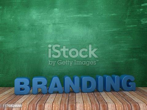 1140385944 istock photo 3D Word BRANDING on Chalkboard Background - 3D Rendering 1176804688