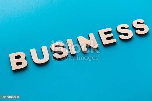 istock Word Business on blue background 837366828