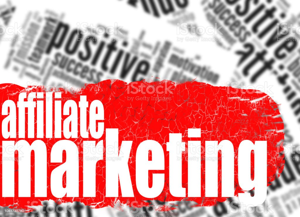 Word cloud affiliate marketing stock photo