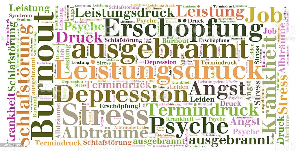 Word Cloud Burnout stock photo