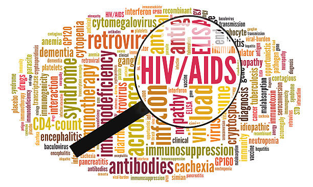 Word cloud of HIV/AIDS stock photo