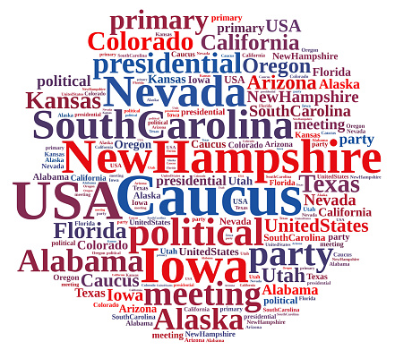 istock Word cloud on the Caucus in the US. 507831070