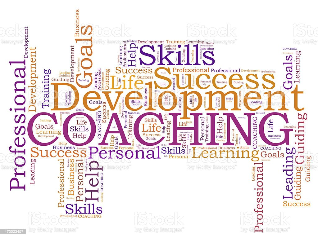 COACHING word cloud stock photo