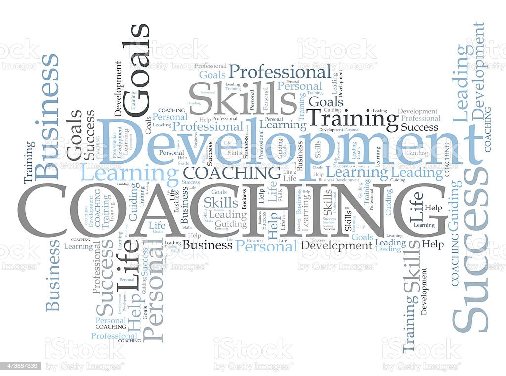 COACHING word cloud royalty-free stock photo