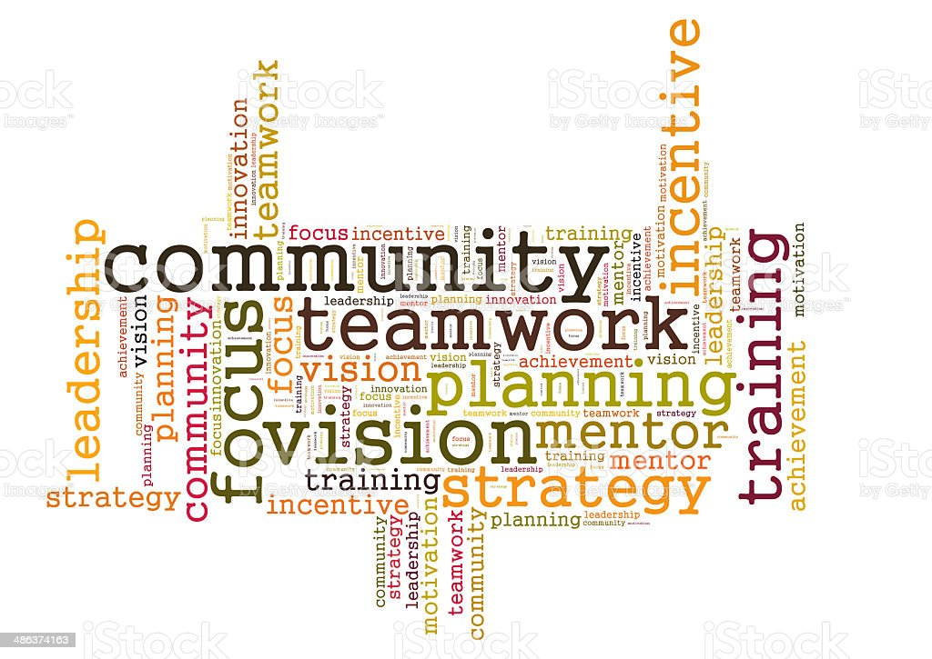 COMMUNITY word cloud stock photo