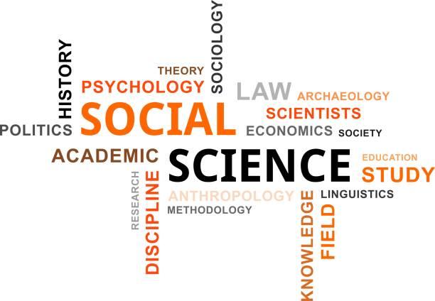 wortwolke - sozialwissenschaften - soziologie stock-fotos und bilder