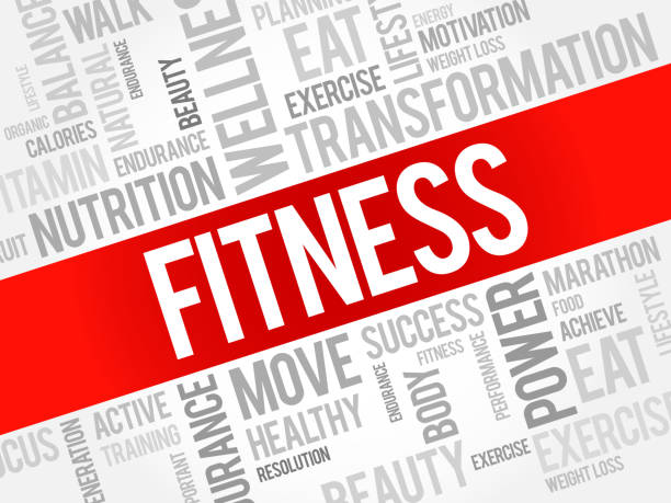 FITNESS word cloud, sport stock photo