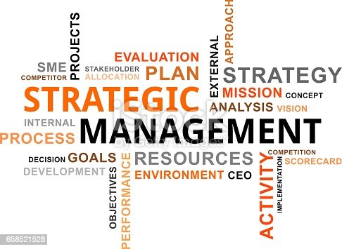 istock word cloud - strategic management 658521528