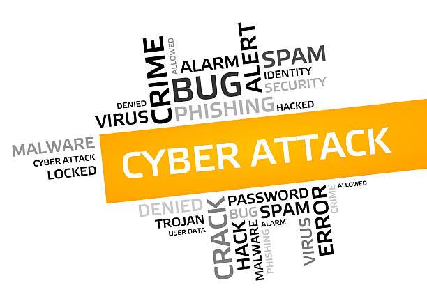 cyber attack word cloud, tag cloud, vector graphic - tag vector imagens e fotografias de stock