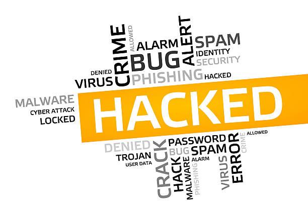 hacked word cloud, tag cloud, vector graphic - tag vector imagens e fotografias de stock