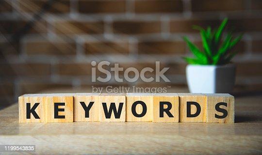 KEYWORDS word concept on wodden blocks. internet concept