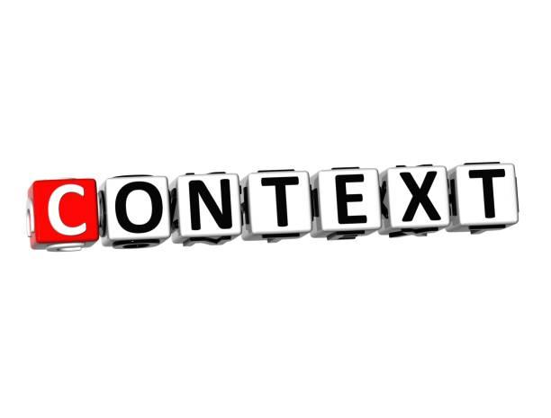 3d wort kontext auf weißem hintergrund - kreuzworträtsel lexikon stock-fotos und bilder