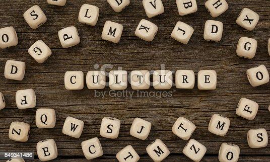 istock Word CULTURE written on wood block 849341486