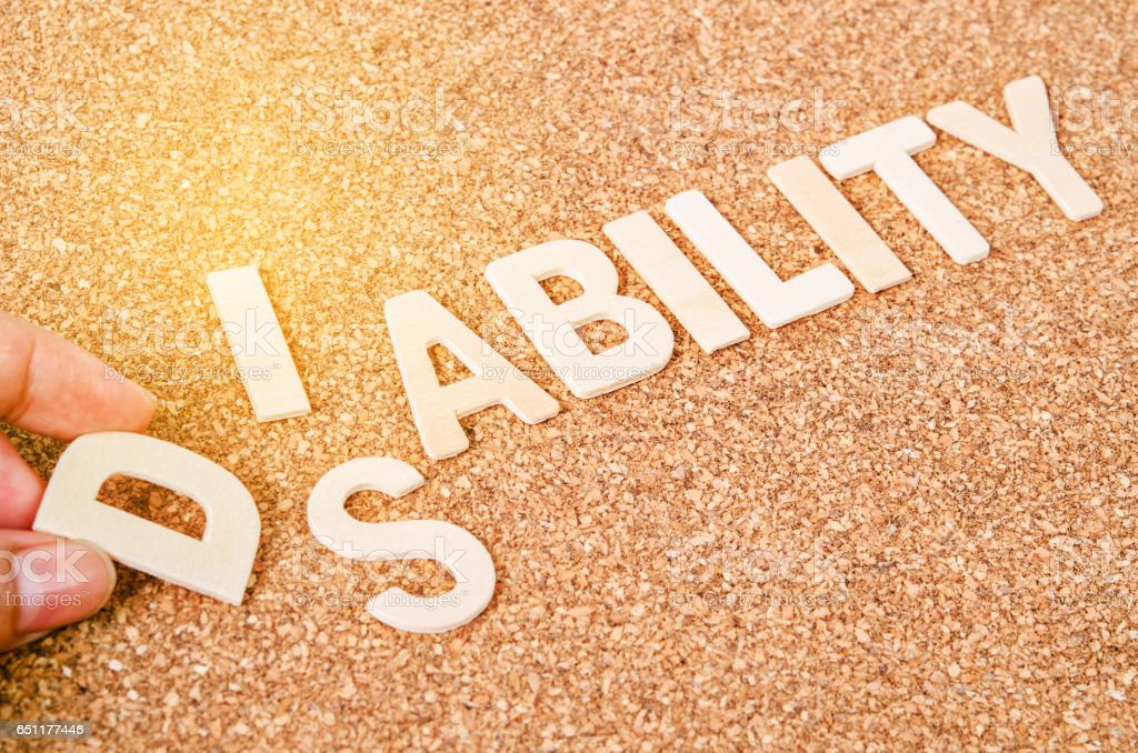 word Disability for Ability. stock photo
