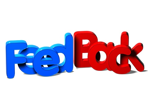 istock 3D Word Feed Back on white background 682711316