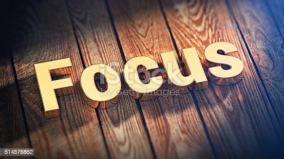 istock Word Focus on wood planks 514576852
