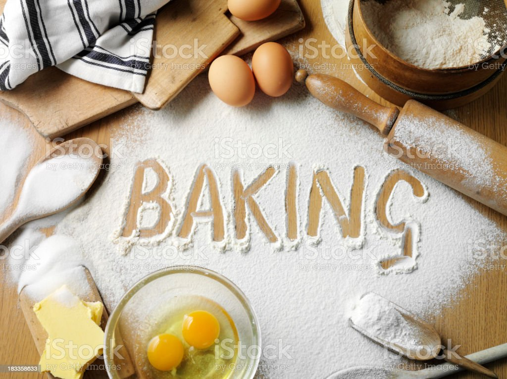 Word for Baking royalty-free stock photo