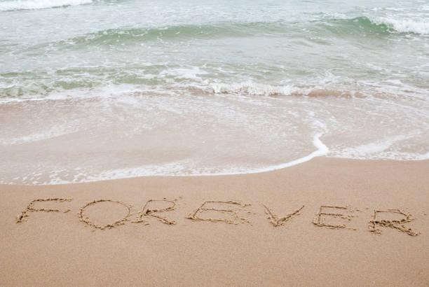 wort für immer in den sand geschrieben - roll tide stock-fotos und bilder