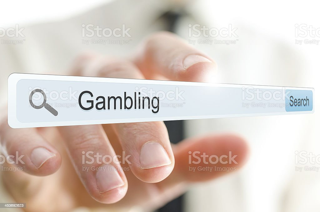 Word gambling written in search bar royalty-free stock photo