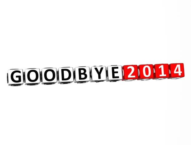 3D Word Goodbye 2014 on white background 3D Word Goodbye 2014 on white background reveillon stock pictures, royalty-free photos & images