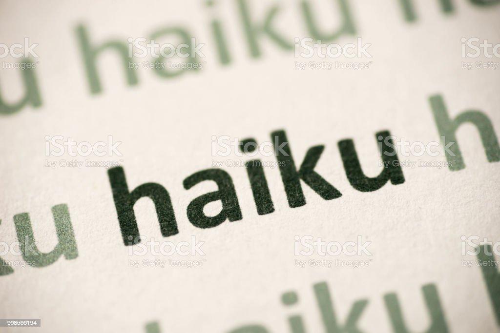 haiku paper