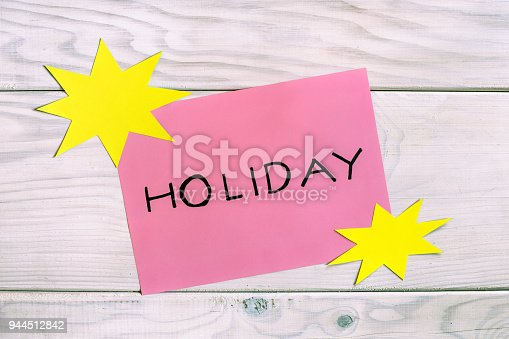 word holiday with sun shapes stock photo more pictures of adventure istock