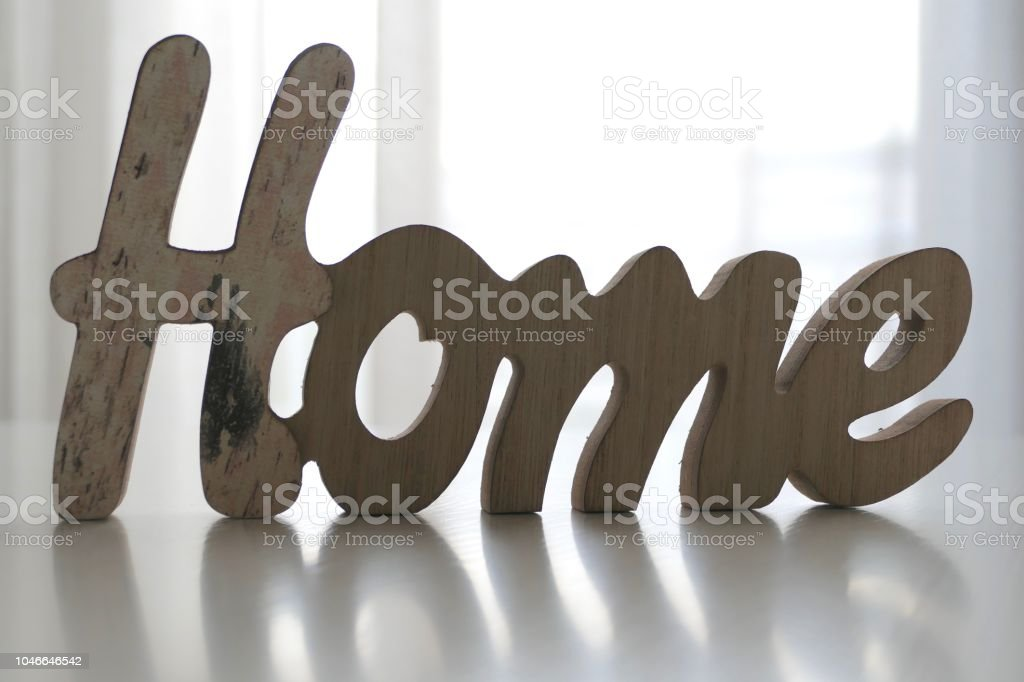 Word Home On The Table In Living Room Stock Photo - Download ...