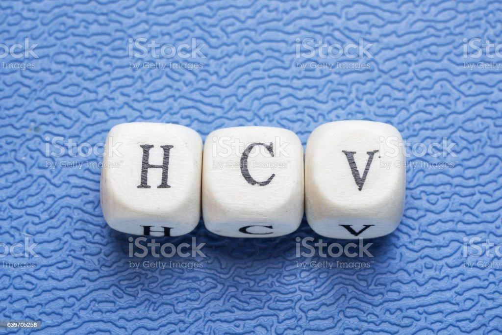 Word hsv (hepatitis c virus) stock photo