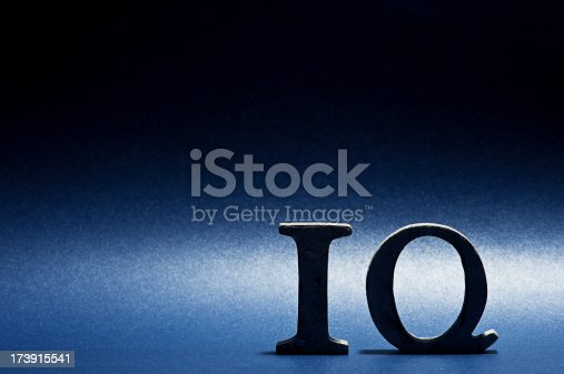 istock Word IQ letters 173915541