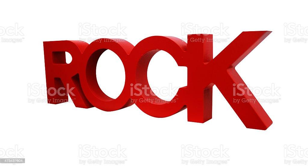 ROCK word isolated on white background stock photo