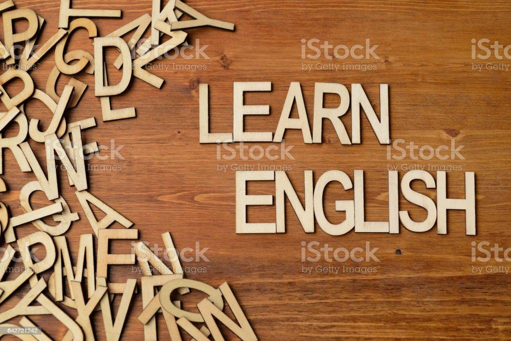 Word learn english stock photo