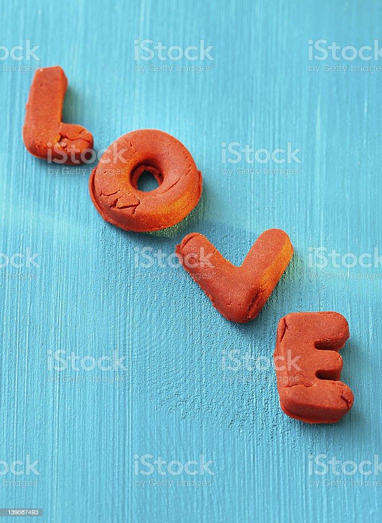 Wort Liebe Lizenzfreies stock-foto