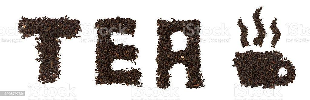 Word made of tea foto de stock royalty-free