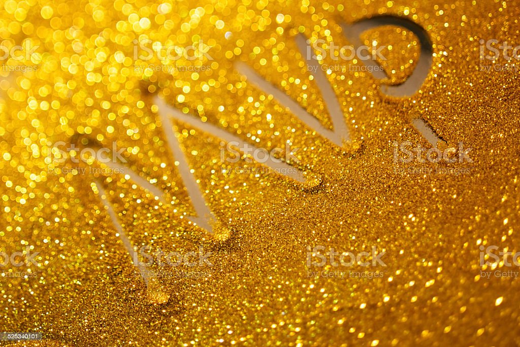 word  MVP writing on golden sand background stock photo