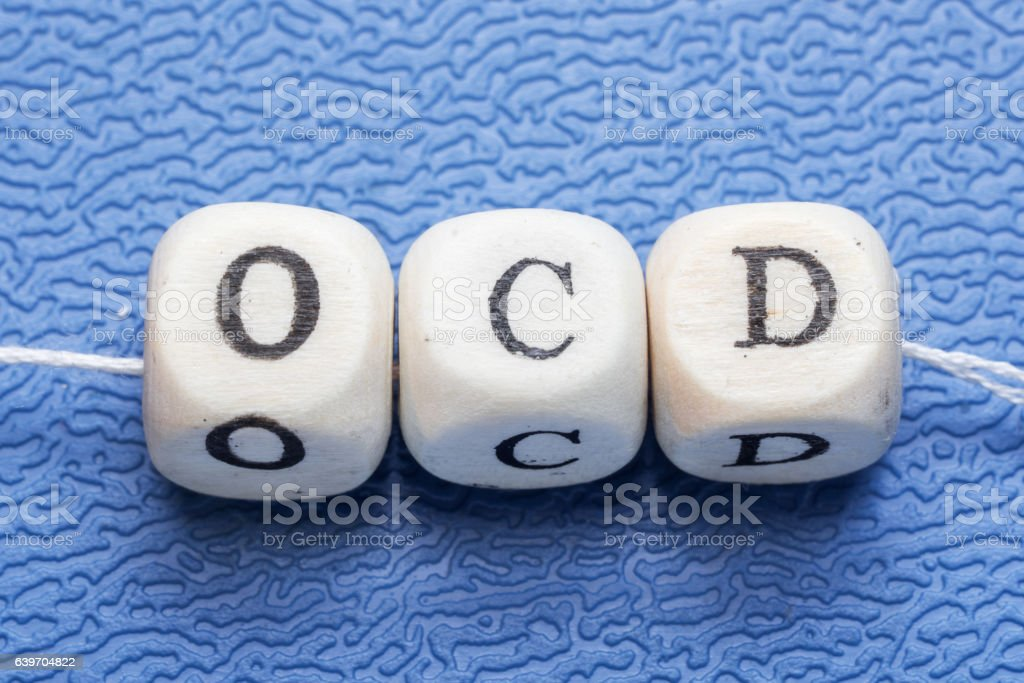 Word ocd (obsessive compulsive disorder) stock photo