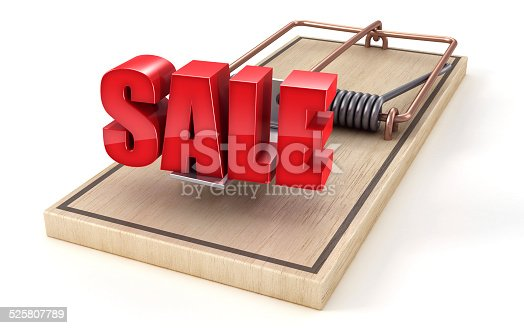 Word SALE on a mousetrap -concept