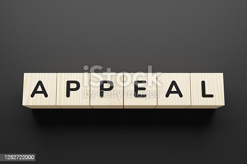 APPEAL word on a wooden blocks.