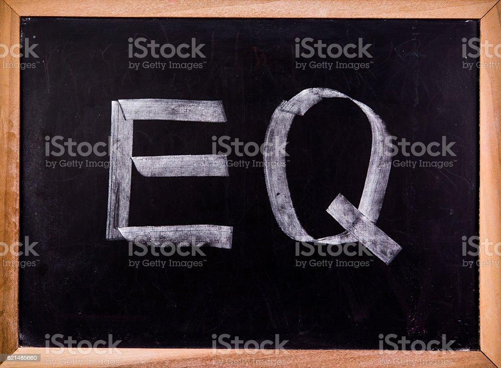 EQ word on blackground Lizenzfreies stock-foto