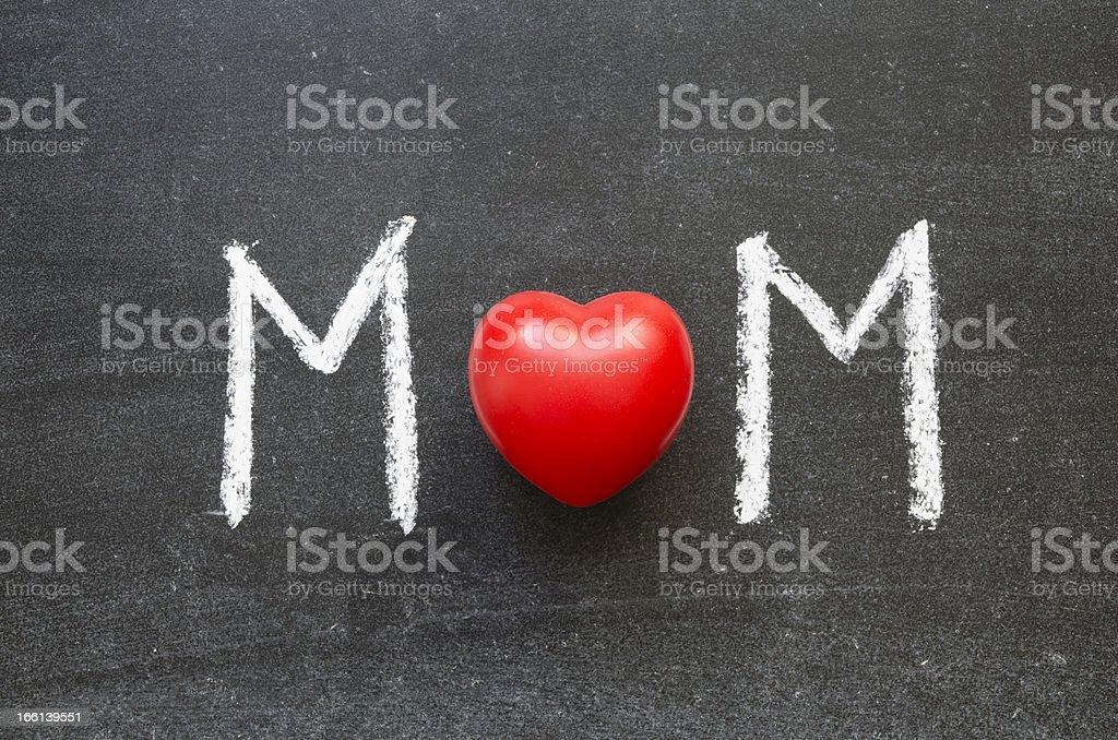 MOM word royalty-free stock photo