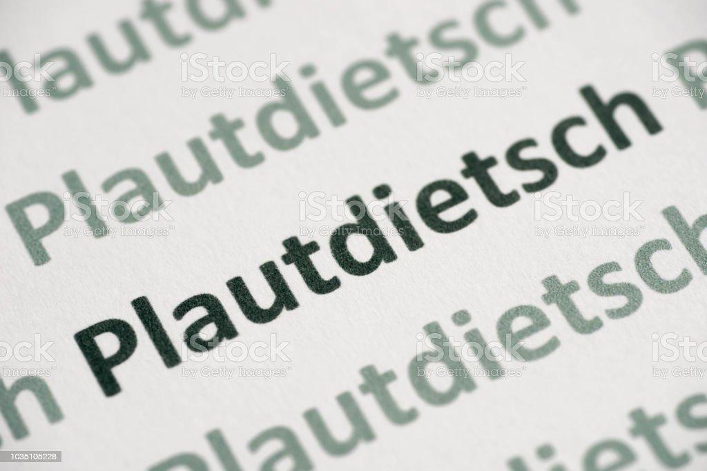 Plautdietsch language