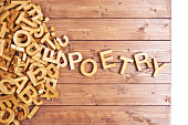 istock Word poetry made with wooden letters 537547686