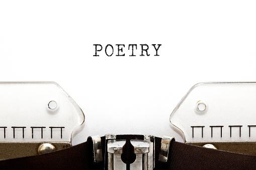Word Poetry On Retro Typewriter