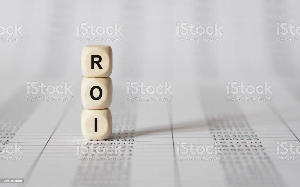 Wort-ROI, die mit Holz Bausteine – Foto