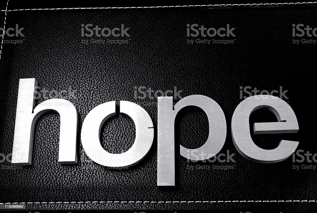 word scenes - hope royalty-free stock photo