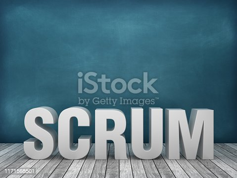 1144568268 istock photo 3D Word SCRUM on Chalkboard Background - 3D Rendering 1171568501