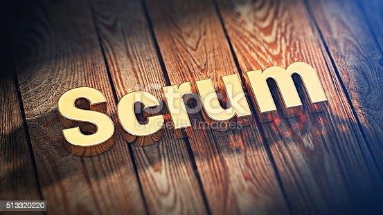 istock Word Scrum on wood planks 513320220