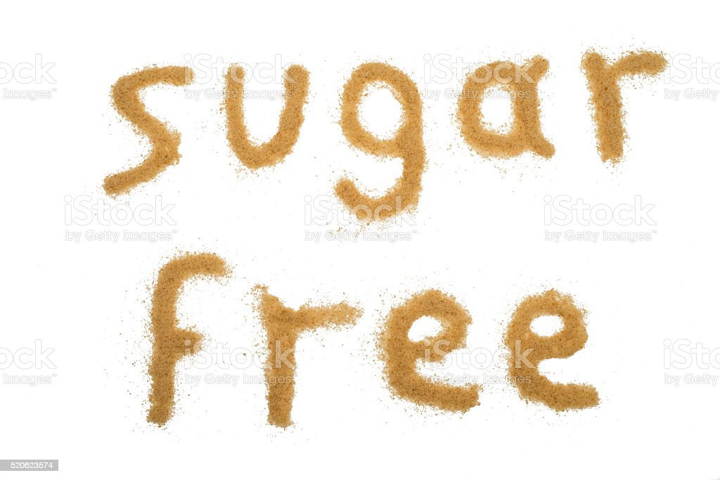 Word Sugar Free Written With Brown Sugar Stock Photo More Pictures