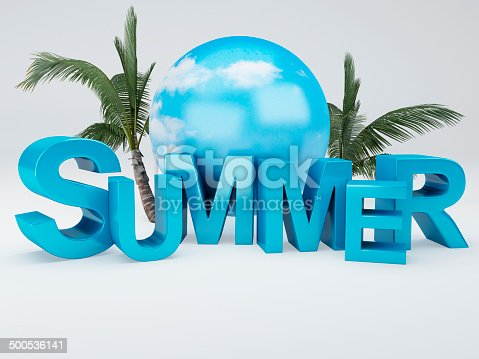 500536143istockphoto word summer 3D Illustration 500536141
